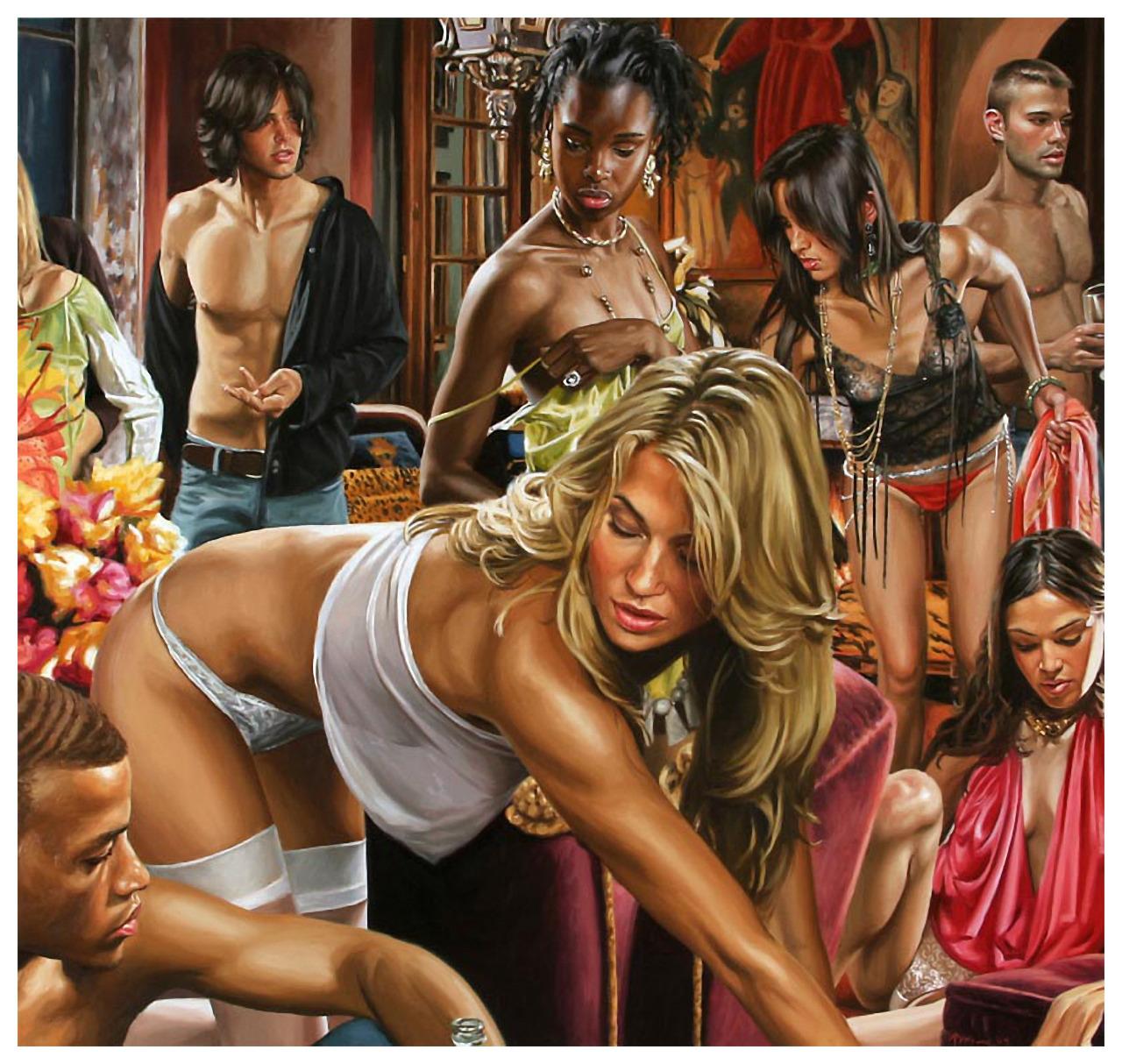 Секс на гламурной вечеринки 10 фотография