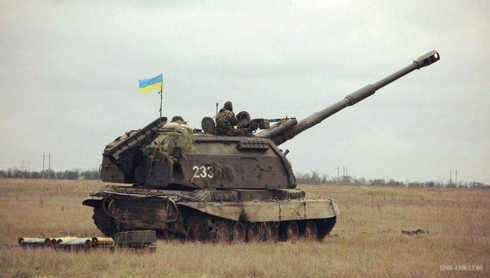 Спрятанные танки ВСУ