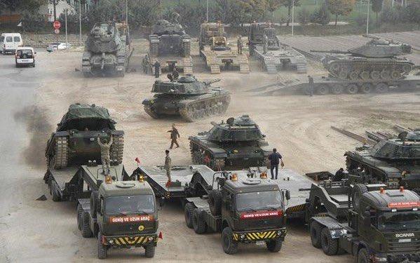 Hơn một ngàn xe bọc thép các loại đã được Thổ Nhĩ Kỳ điều đến biên giới Syria