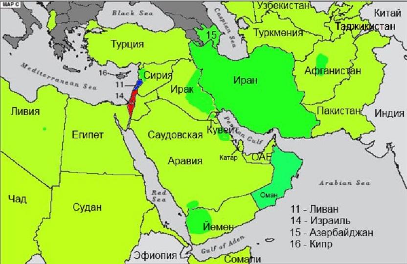 впервые увидев иран и саудовская аравия на карте лучшим материалом