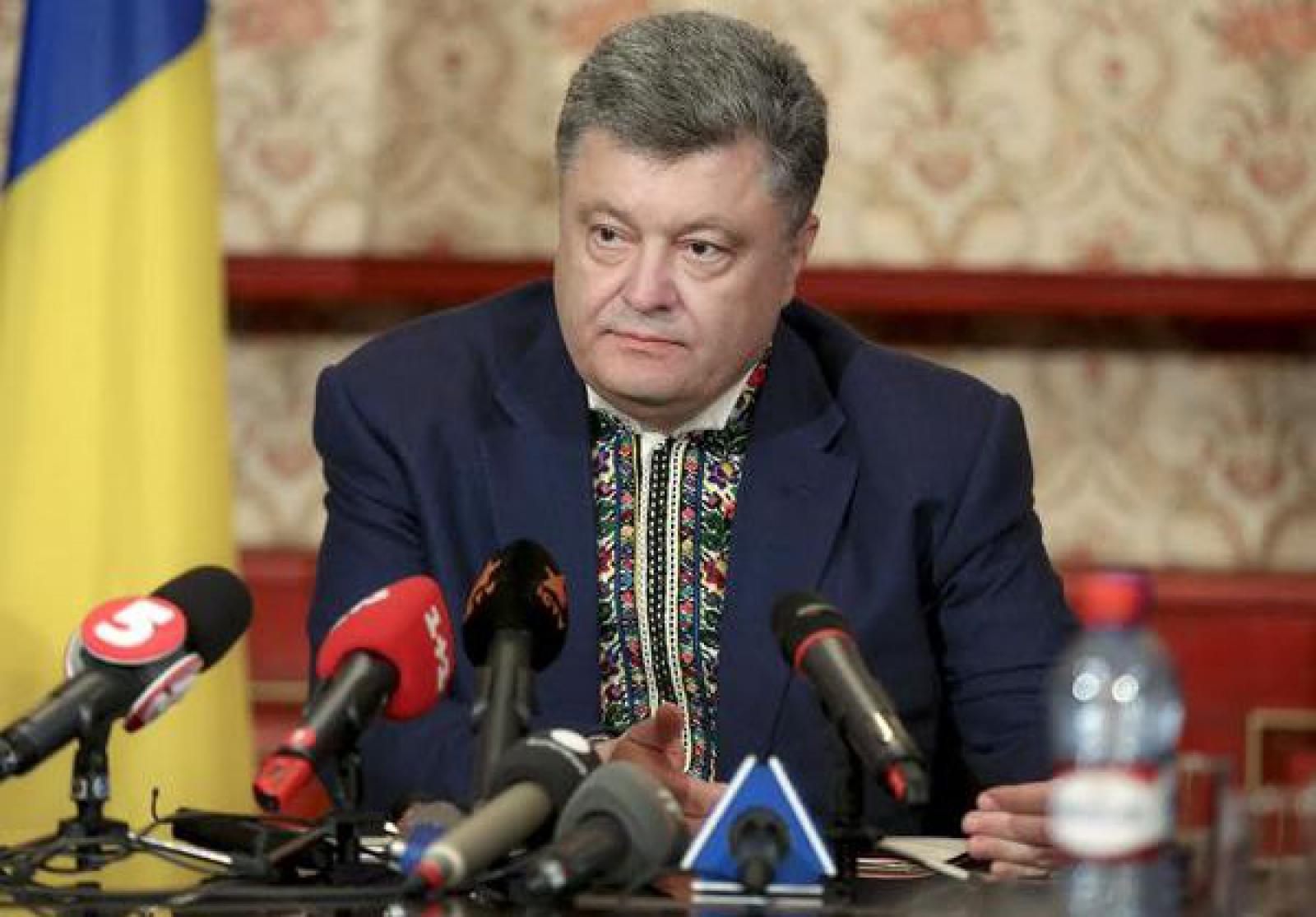 Порошенко на пресс-конференции забыл украинский язык