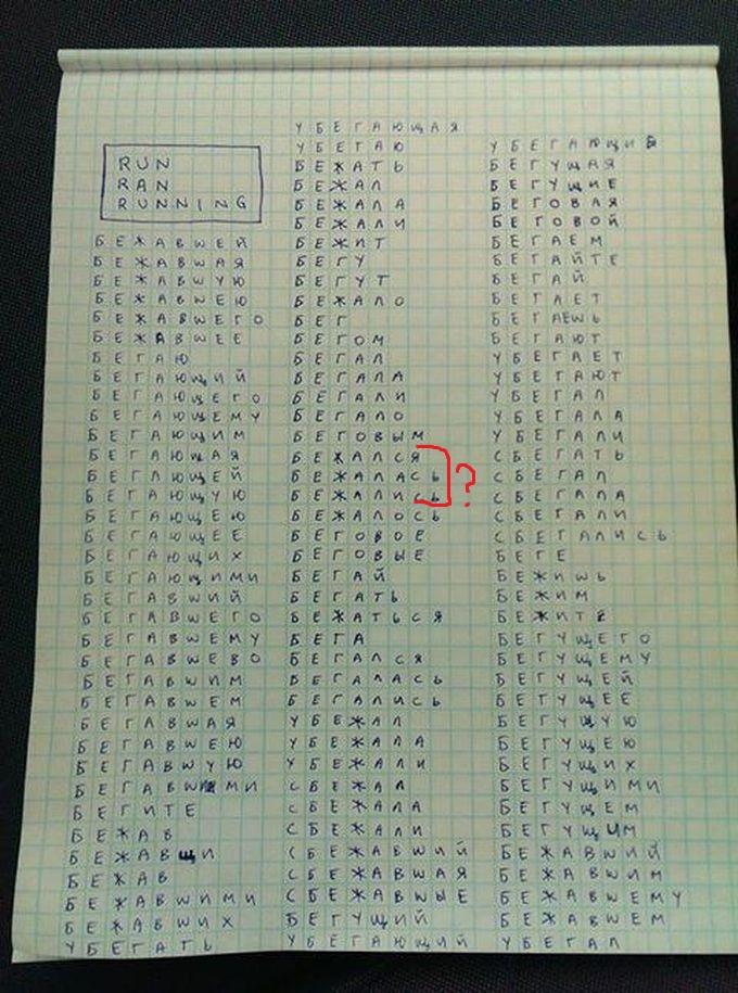Русский язык на английском