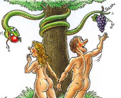 Картинки по запросу адам и ева с юмором