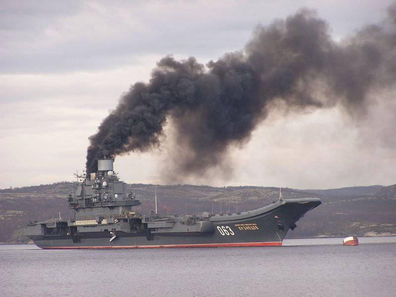 Командир «Кузи» раскрыл тайну черного дыма над крейсером-оказывается,виновата самая высокая труба в мире