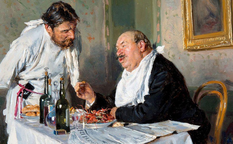 """""""В таверне"""", В.Е. Маковский, 1887"""