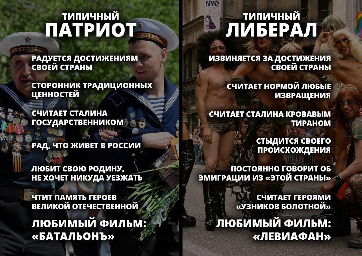 Демотиваторы про либералов россии