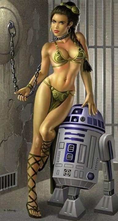 Princess leigh starwars metal bikini