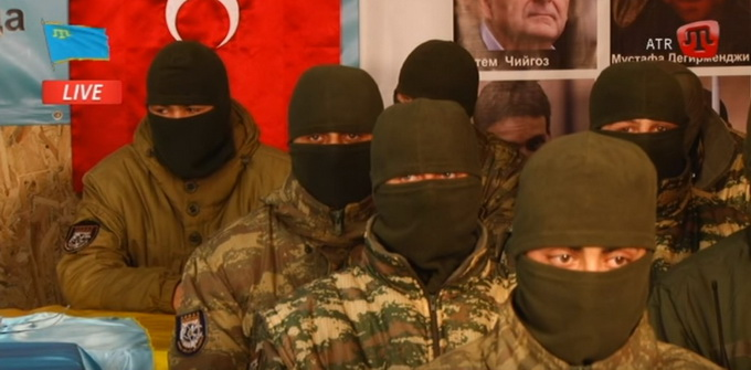 Картинки по запросу боевики крымских татар в херсонской области