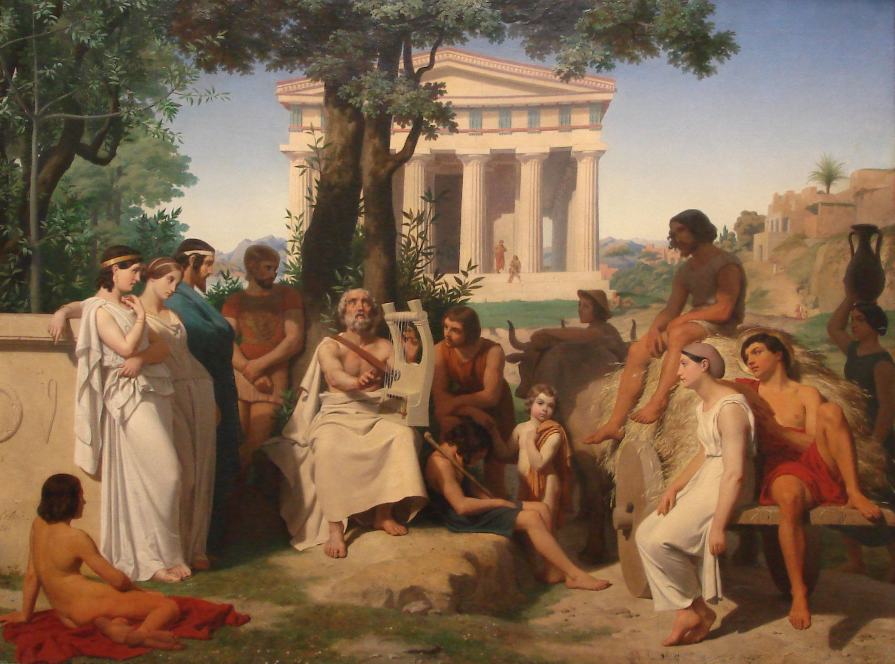 an analysis of the topic of the idea of the muse in hesiod and homer How to write literary analysis suggested essay topics in the odyssey, in contrast to the iliad, the muse is asked to choose , homer explains the origin of.
