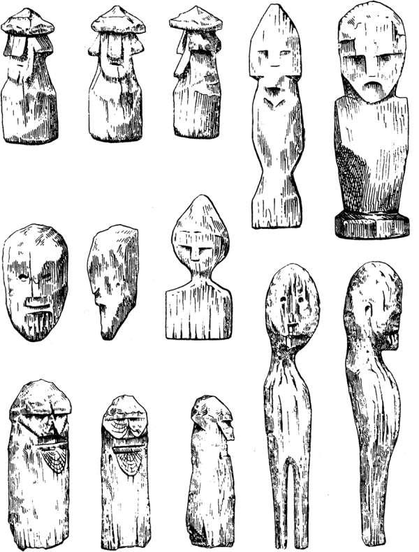 Рисунки идолов первобытных людей
