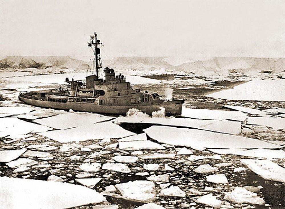 Флотилия слава под руководством папанина у берегов антарктиды