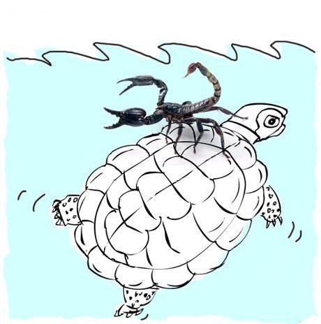лимона картинка скорпион и черепаха для защиты