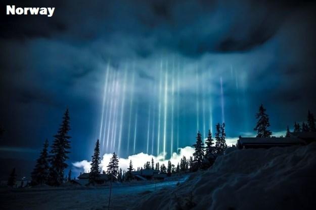 Событие. Солнечный импульс. Раскрытие.  Norway-light-pillars-7