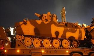 погрузка турецкой военной техники на границе с Сирией