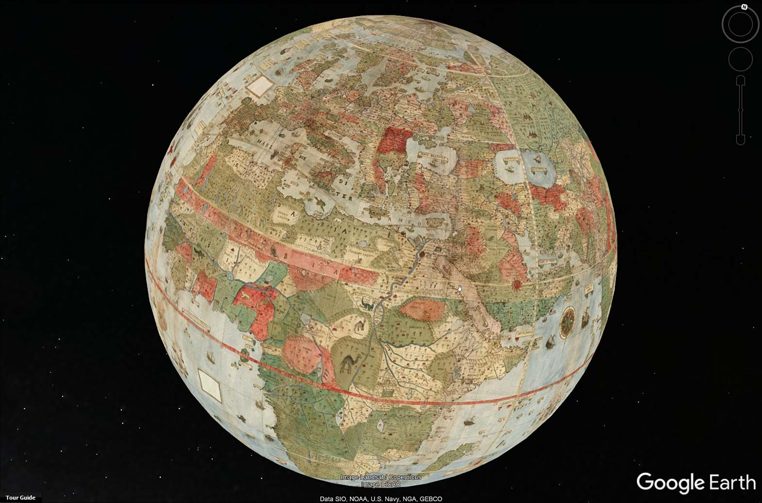 Planishere Google Earth