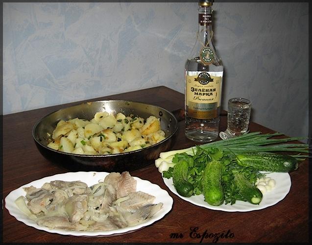 водка картошка селедка фото
