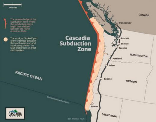 Калифорния, зона субдукции Cascadia: люди жалуются, что повсеместно воняет смолой и серой