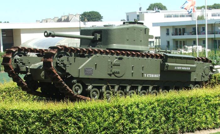 танк Черчилль-крокодил