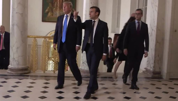 Визит Трампа в Париж.  И как Меркель неожиданно заговорила по-русски