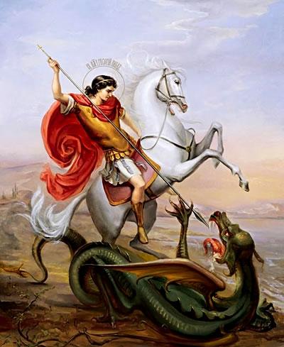 В руке георгия победоносца