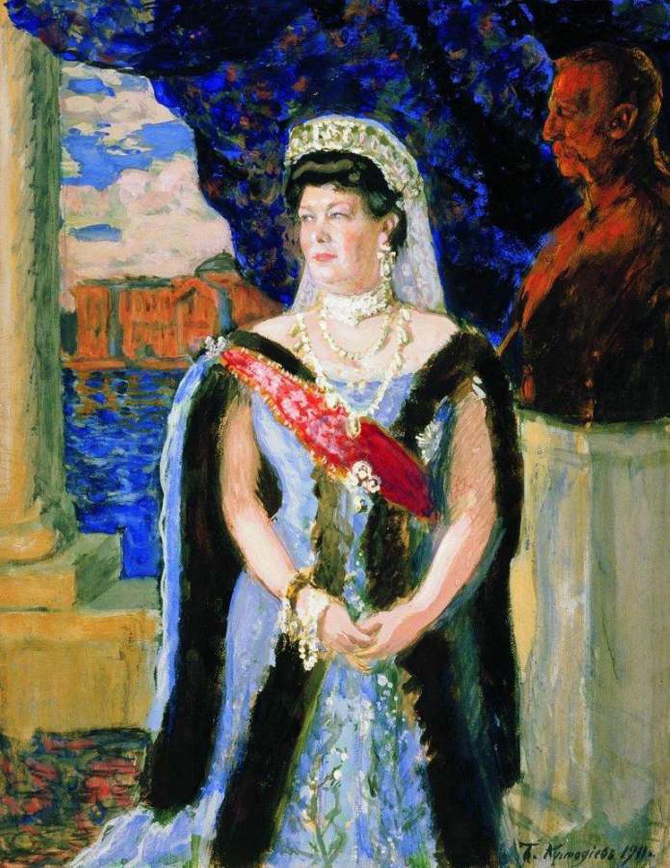 Картинки по запросу Мария Павловна,на портрете кисти Бориса Кустодиева