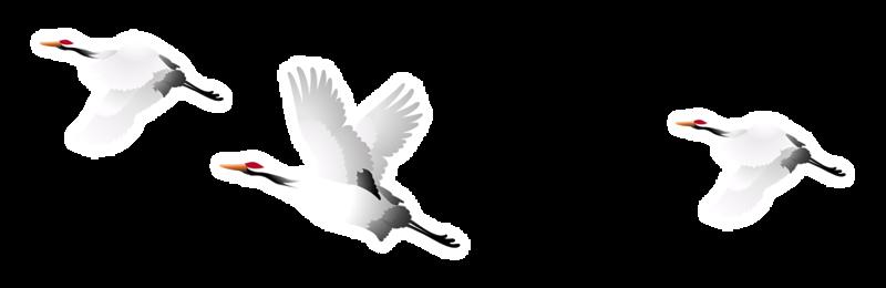 Журавли летят анимация на прозрачном фоне