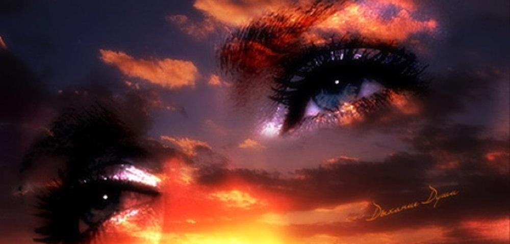 Картинки с глазами и закатом