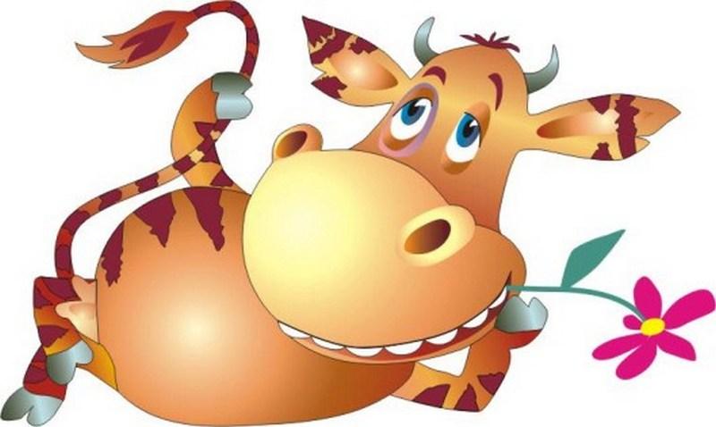 Рисунок коровы прикольный