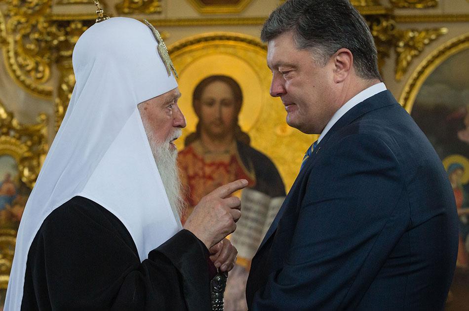 Порошенко и «агенты Кремля» в рясах. Отступать ему некуда