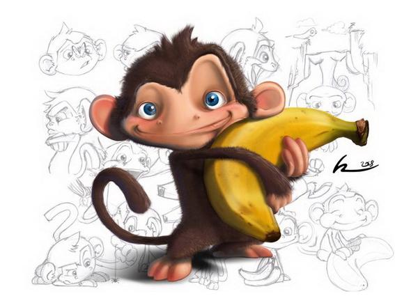 Обезьяна с секс бананом