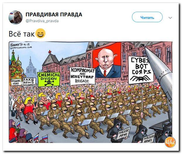 Kruvino Putino režimo paradas...