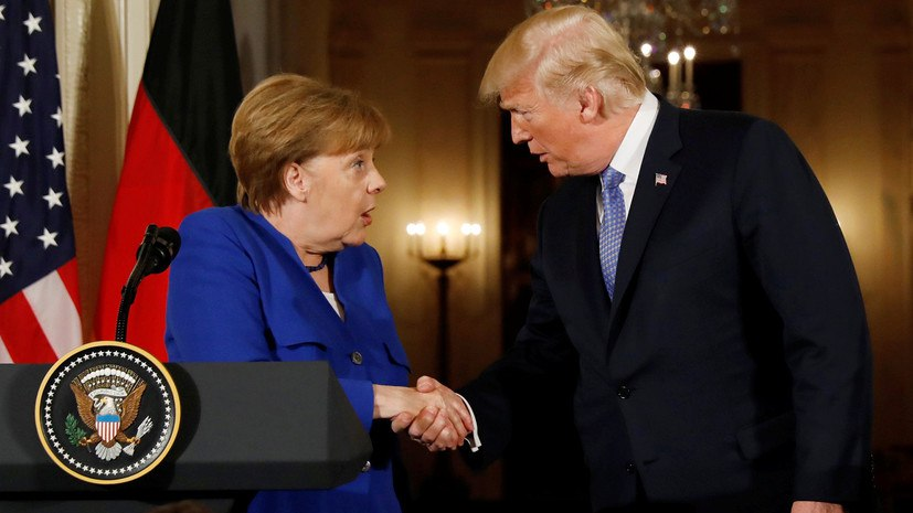 «Сдержанная встреча»: Дональд Трамп и Ангела Меркель обсудили санкции против России