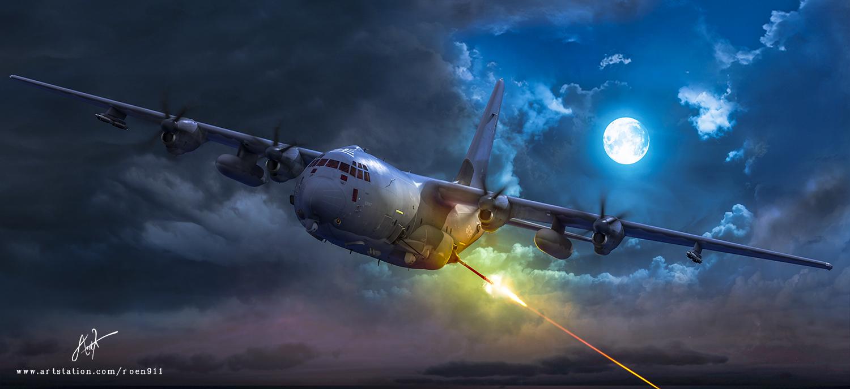 Американский АС-130 в Сирии познакомился с русской «Красухой», она ему не понравилась