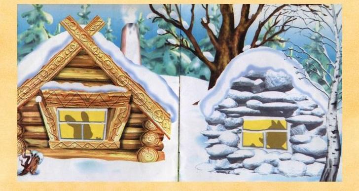Картинки из сказки про лубяную избушку