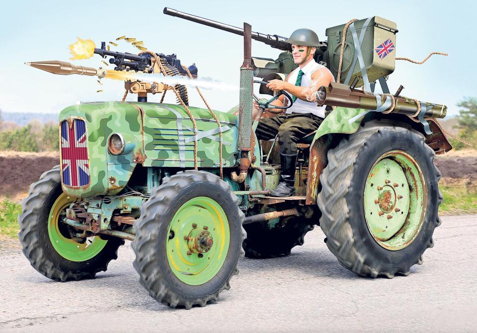 Боевые трактора Британии или Как экономно сдерживать Россию