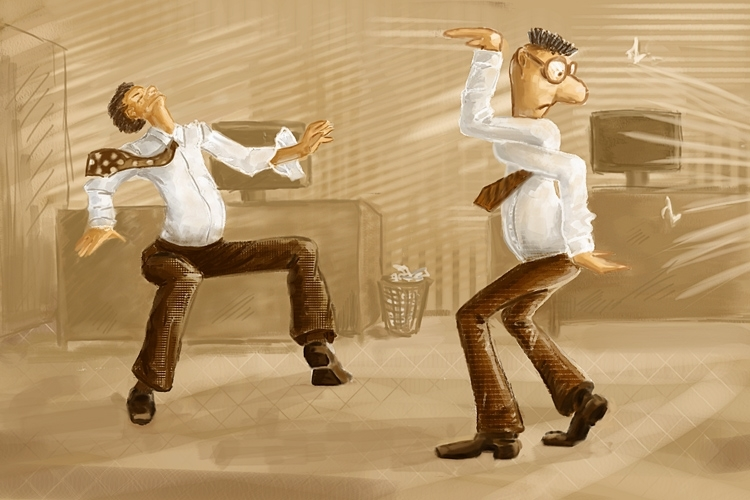 Смешная картинка танцора, анимациями бабушка