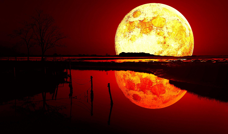 Кровавая луна картинки на рабочий стол