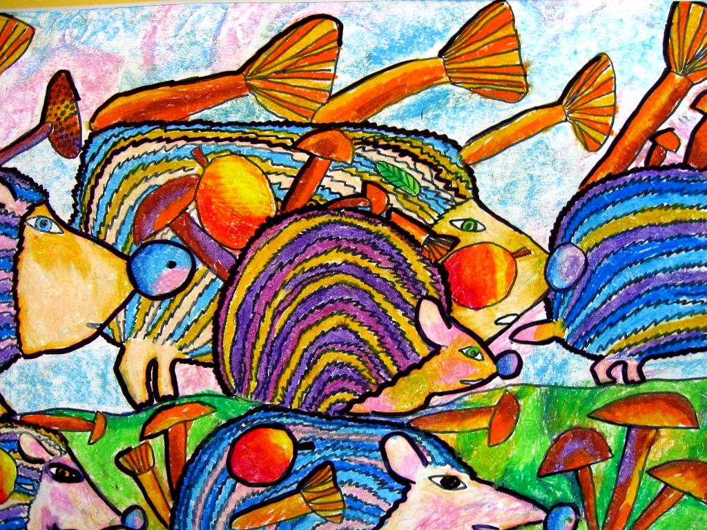 Рисунки из художественной школы животные