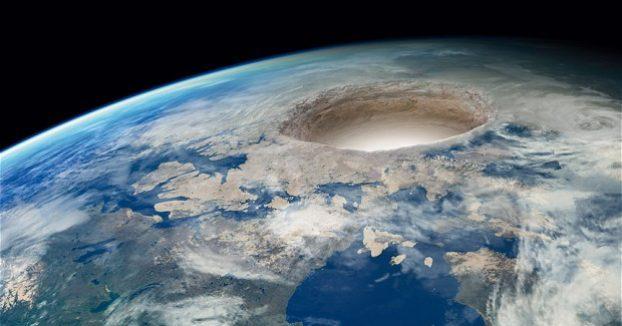 Иллюстрация из открытых источников. Полая Земля.
