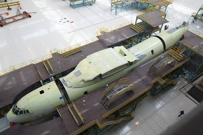В «Авиастар-СП» запущена российская автоматизированная поточная линия сборки самолетов Ил-76МД-90А