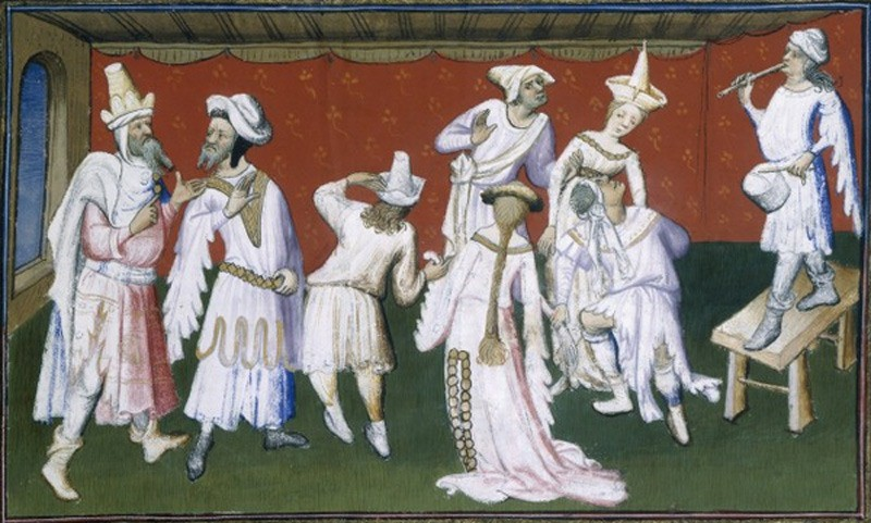 Иллюстраци к книге о путешествии Марко Поло с изображением жителей восточной Азии.