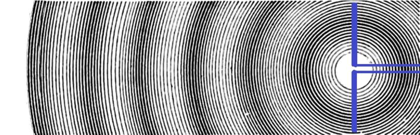 Радиоволны, создаваемые «вибратором Герца».