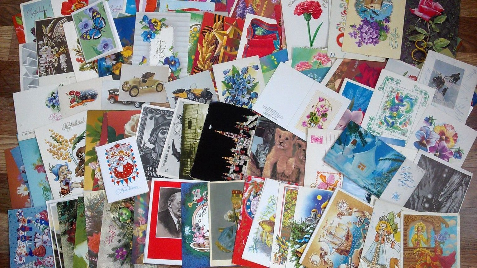 Олечка, продам открытки для коллекции
