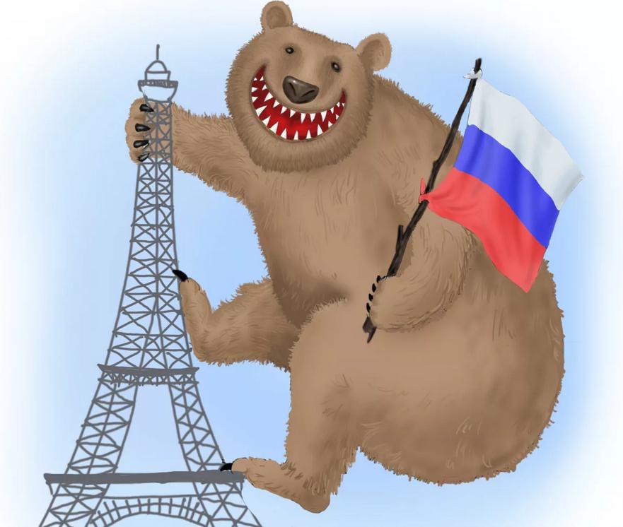 медведь россия рисунок