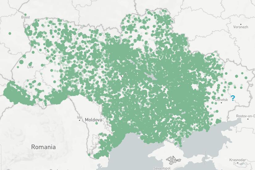Подробная карта выборов на Украине с победителями на участках