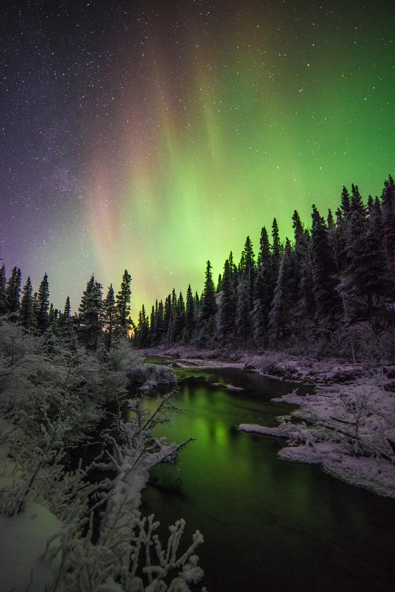 Полярное сияние на Аляске. 12.12.2014