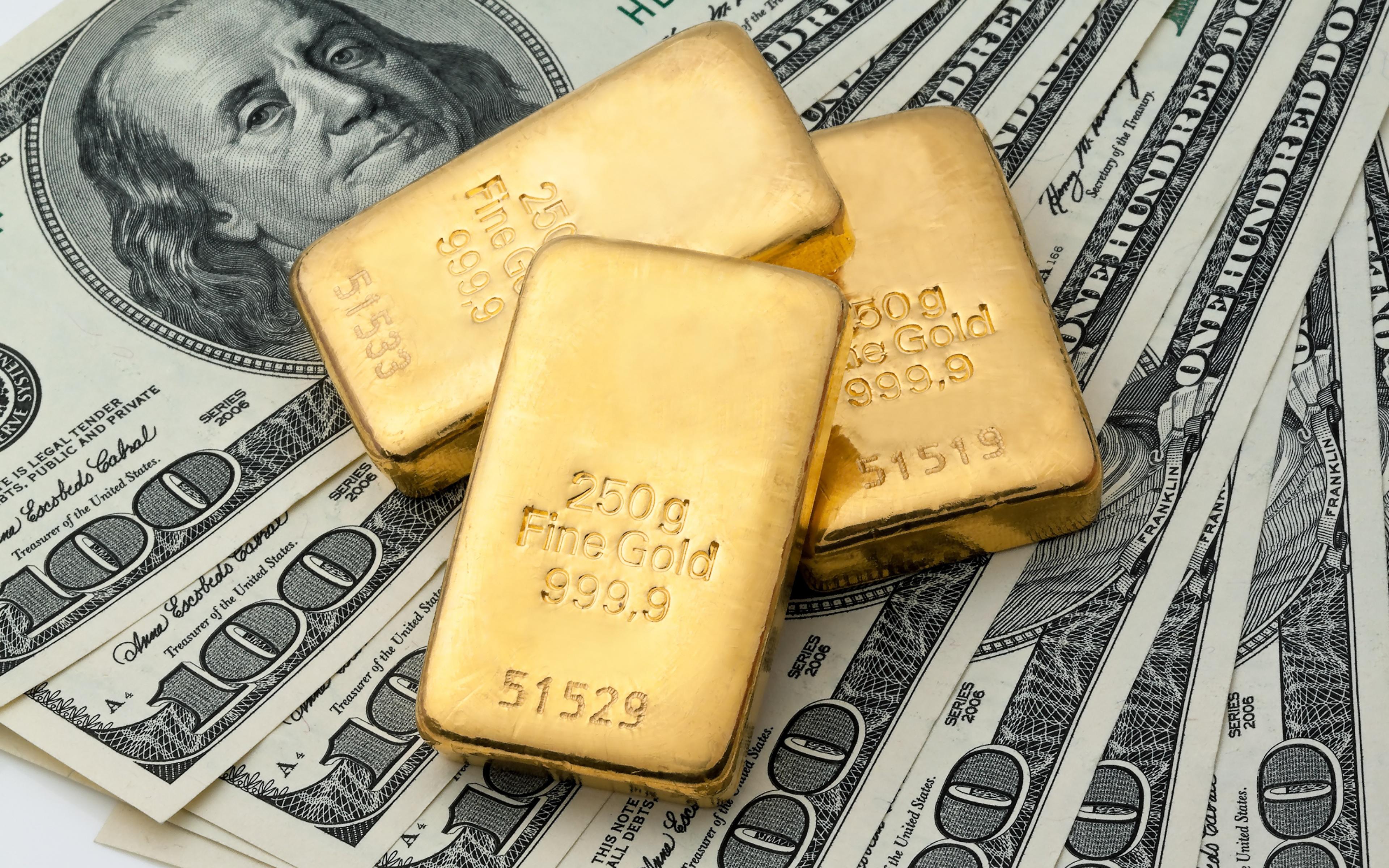 Александр Халдей - Пока профаны смотрели на Украину, США и Китай, главное случилось в Швейцарии Money_Dollars_Gold_100_Ingots_520664_3840x2400