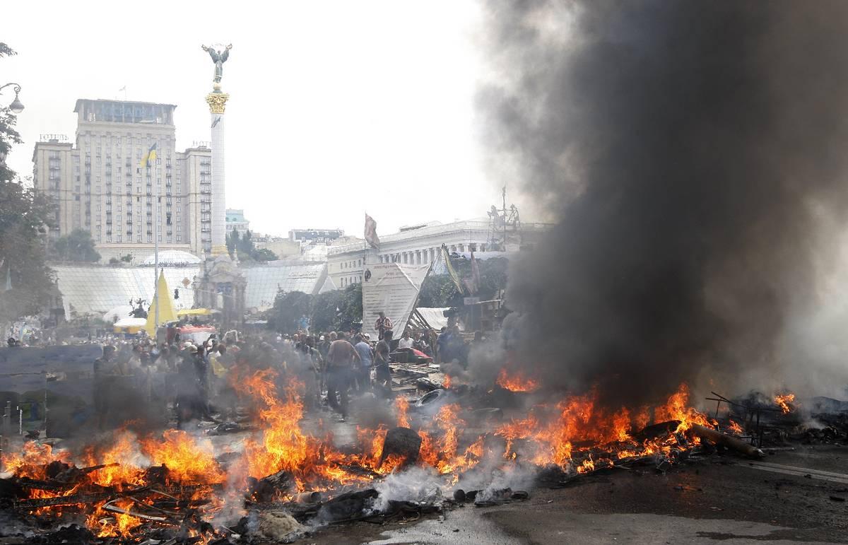 Киев в конце февраля 2014 года.