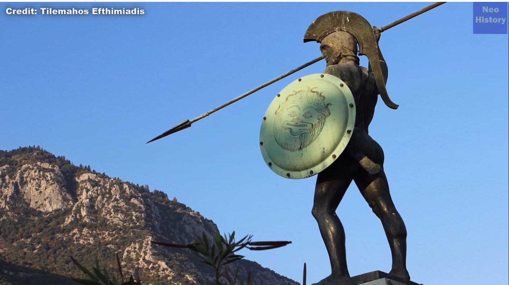 Рисунок 15. Общепринятое изображение древнегреческого воина.