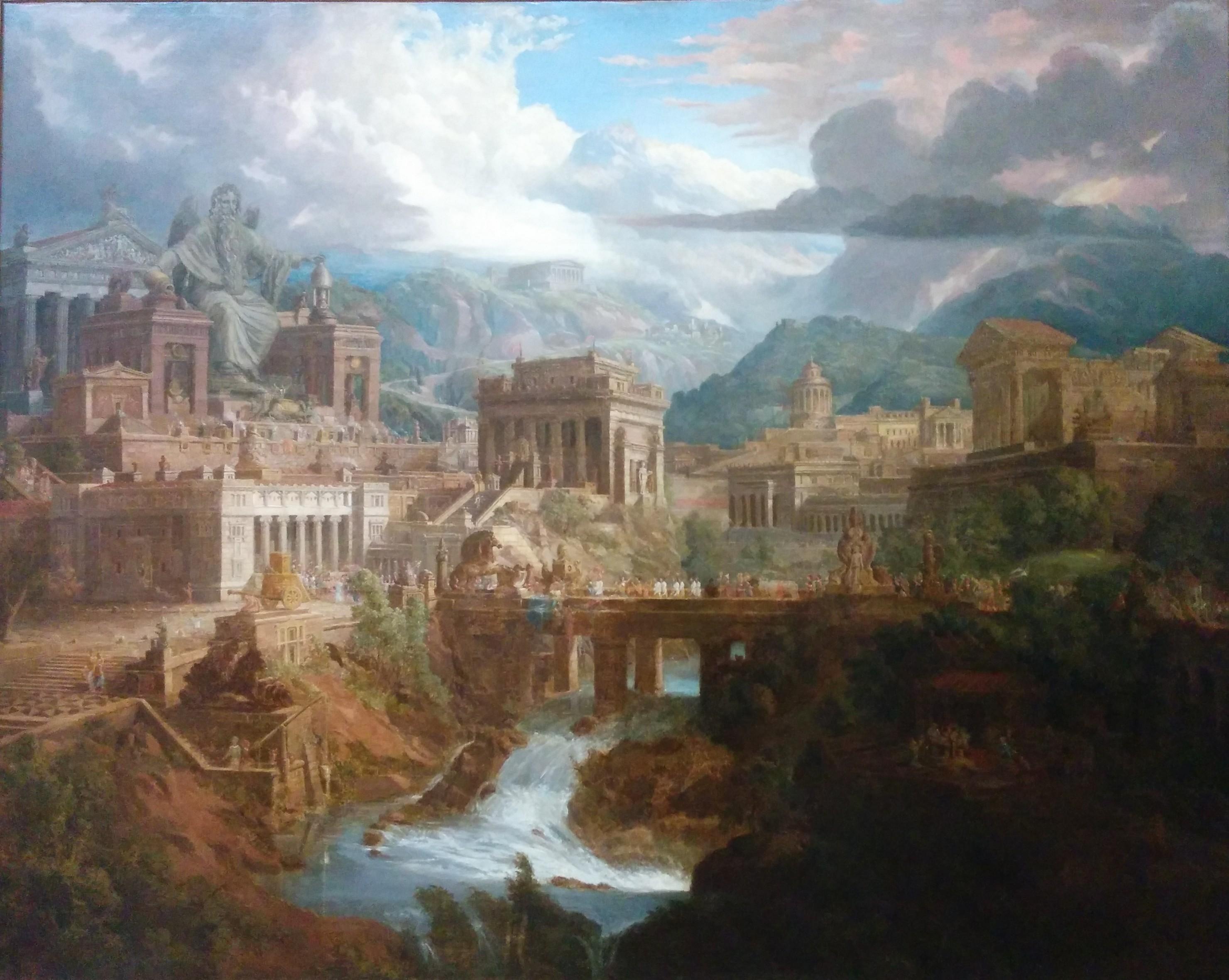 Рисунок 1. Реконктсрукция древнегреческого города.